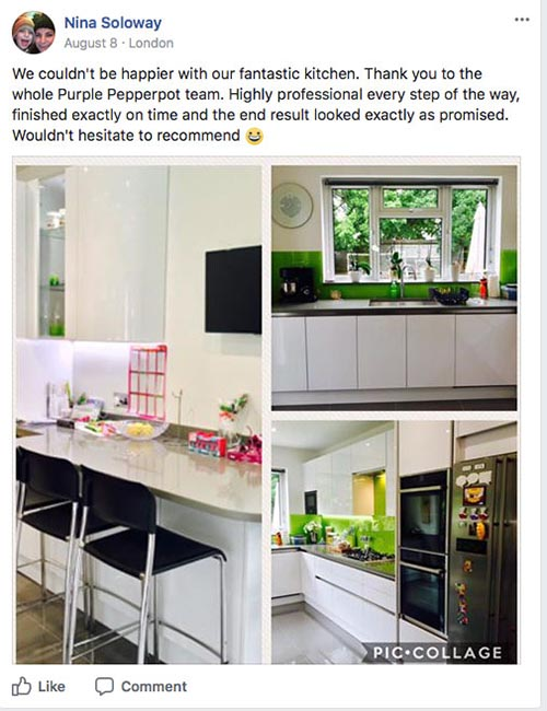 bespoke kitchen london reviews purple pepperpot kitchen